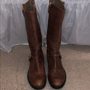 Tall Brown Boots Used ECCO